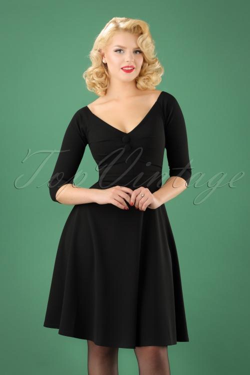 Vintage Chic Black Scuba Crepe Dress 102 10 22502 20170918 0004W