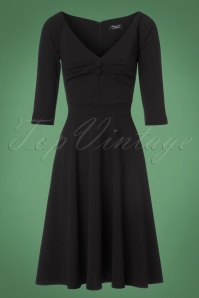 Vintage Chic Black Scuba Crepe Dress 102 10 22502 20170918 0003w