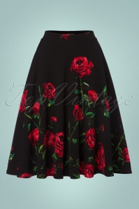 Vintage Chic Roses Swing Skirt 122 14 22517 20170918 0001w