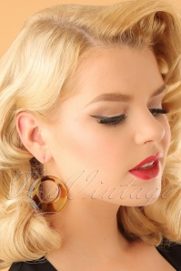 Vixen Leopard Print Earrings 333 70 23047 model01W