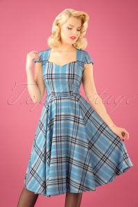 Bunny Aberdeen 50s Swing Dress in Pastel Blue 102 39 22593 20170913 01W
