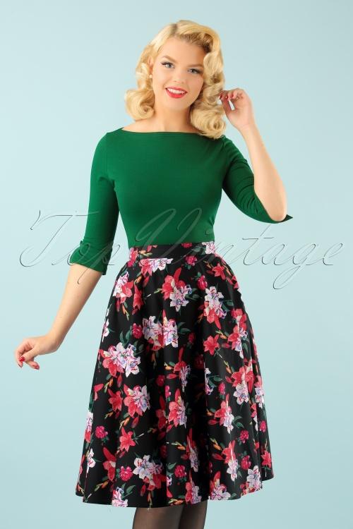 Bunny Liliana 50s Floral Skirt 122 14 22618 20170912 001W
