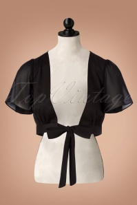 50s Linda Tie Bolero in Black