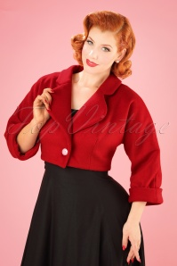 Collectif Clothing Monroe Jacket in Red 21743 20170609 02W