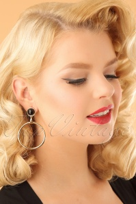 Vixen Retro Black Gold Earring 333 91 23052 model02W