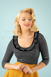 Bunny Zsa Zsa Black and White Striped Top 111 14 22621 20170913 2W