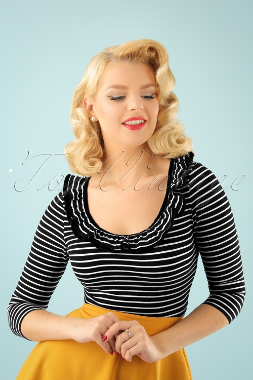 Bunny Zsa Zsa Black and White Striped Top 111 14 22621 20170913 2W