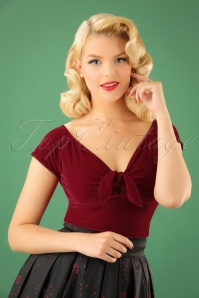 50s Sugar Top in Red