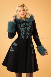 Bunny Sherwood Black Teal Coat 152 10 22630 20170912 01W