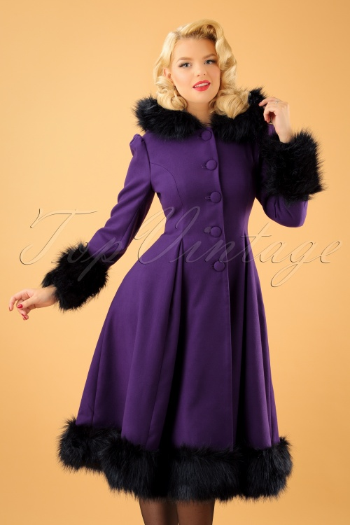 30s Elvira Coat In Purple