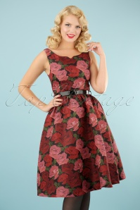 Lindy Bop Nova Roses Swing Dress 102 14 22896 20170831 0009