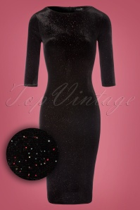 Vintage Chic Rainbow Glittered Black Velvet Dress 100 10 23381 20171017 0004W1