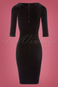 Vintage Chic Glittered Velvet Dress 100 10 23382 20171017 0006W
