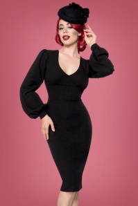 Bellissima  Retro Long Sleeve Pencil Dress 100 10 23748 20171017 01