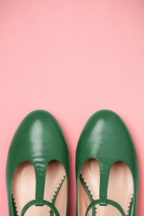 a9ba50809ab Lulu Hun Green Chrissie Block Heel Shoes 401 40 21706 03222017 015