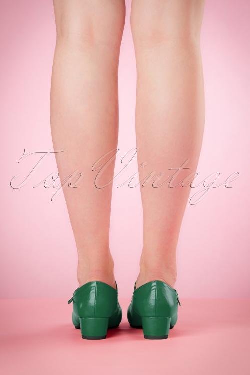 99faf2935f8 Lulu Hun Green Chrissie Block Heel Shoes 401 40 21706 03222017 013W