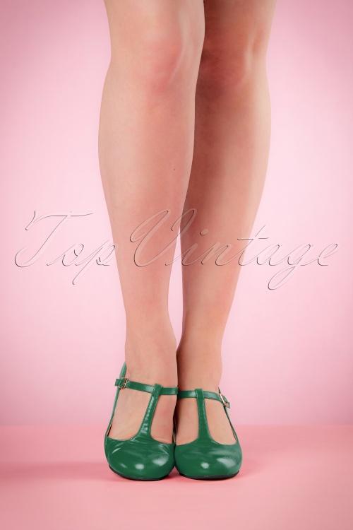 38272b17104 Lulu Hun Green Chrissie Block Heel Shoes 401 40 21706 03222017 010W
