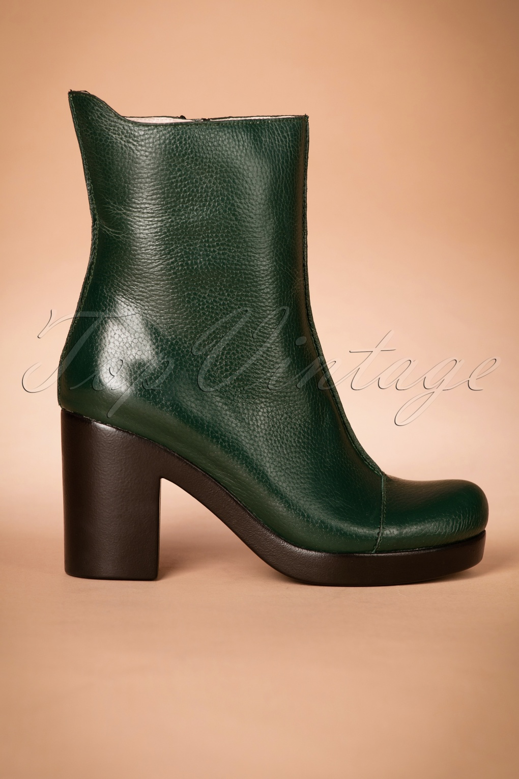 Retro Boots, Granny Boots, 70s Boots 70s Saker Lifestyle Booties in Green £151.06 AT vintagedancer.com