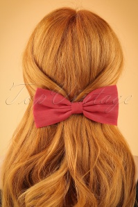 50s Hair Bow in Red