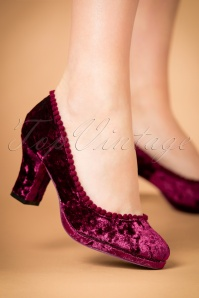 Dancing Days by Banned Honey Hush Magenta Pump 400 22 22440 model 18102017 001W
