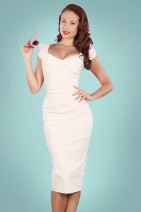 Stop Staring Billion Dollar Pencil Dress Ivory White  15212 20141105 001