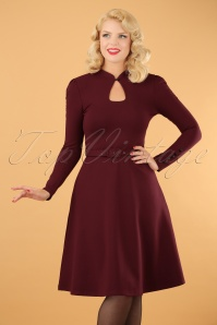 50s Dita Swing Dress in Burgundy