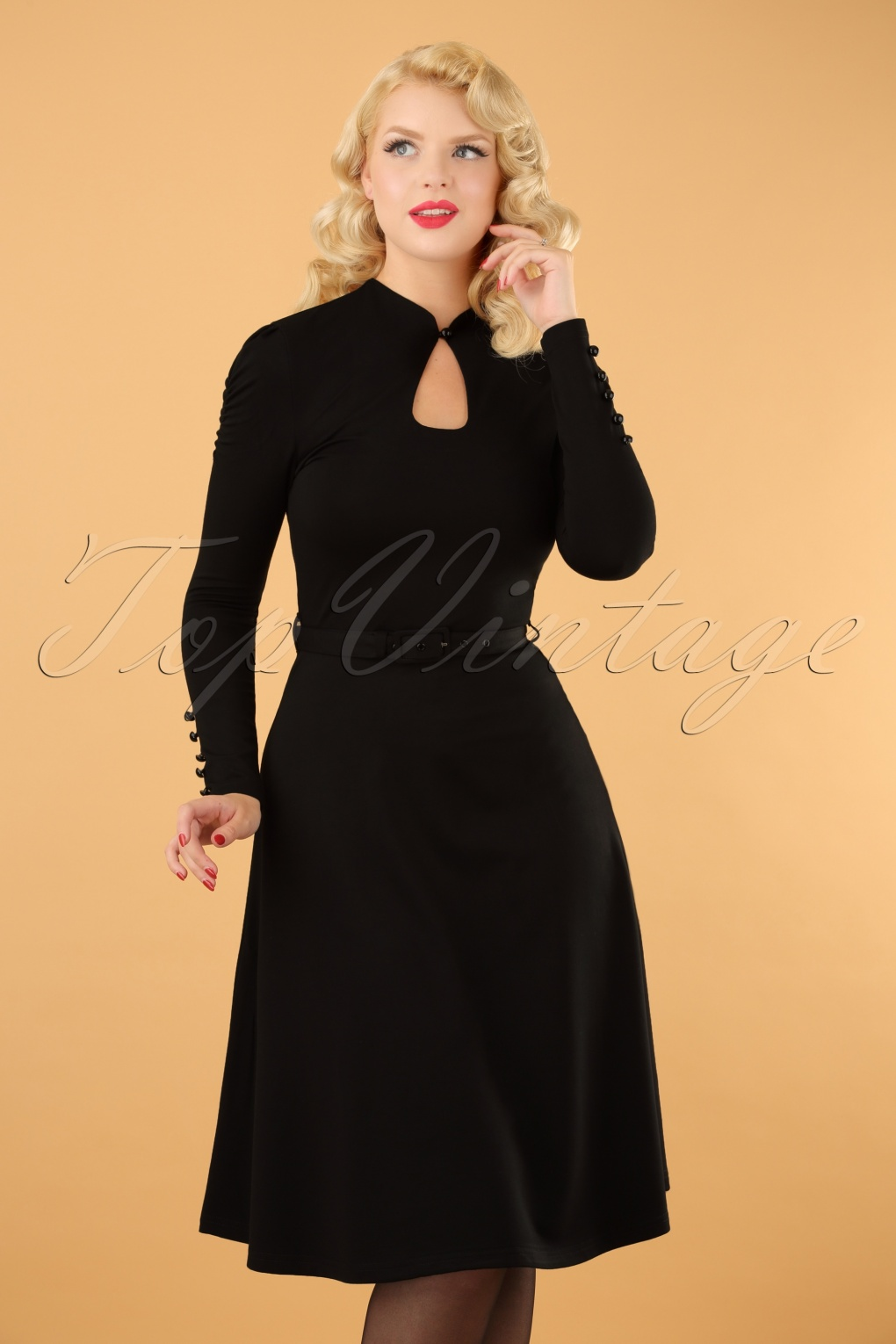 a022d03bfd26 50s Dita Swing Dress in Black