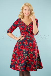 Vixen Rose Floral Red Dress 102 39 22016 20170823 00010W
