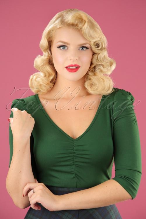 Vixen Von Teese Shirt in Green 113 40 22033 20170821 0007W