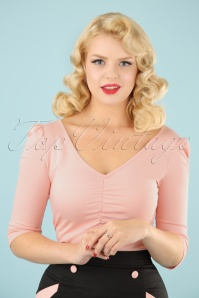 50s Von Teese Top in Baby Pink