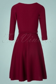 Vintage Chic Ribbed Leaf Textured Dress 102 20 22493 20171019 0123W