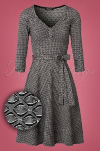 50s Diana Swing Dress in Black and White
