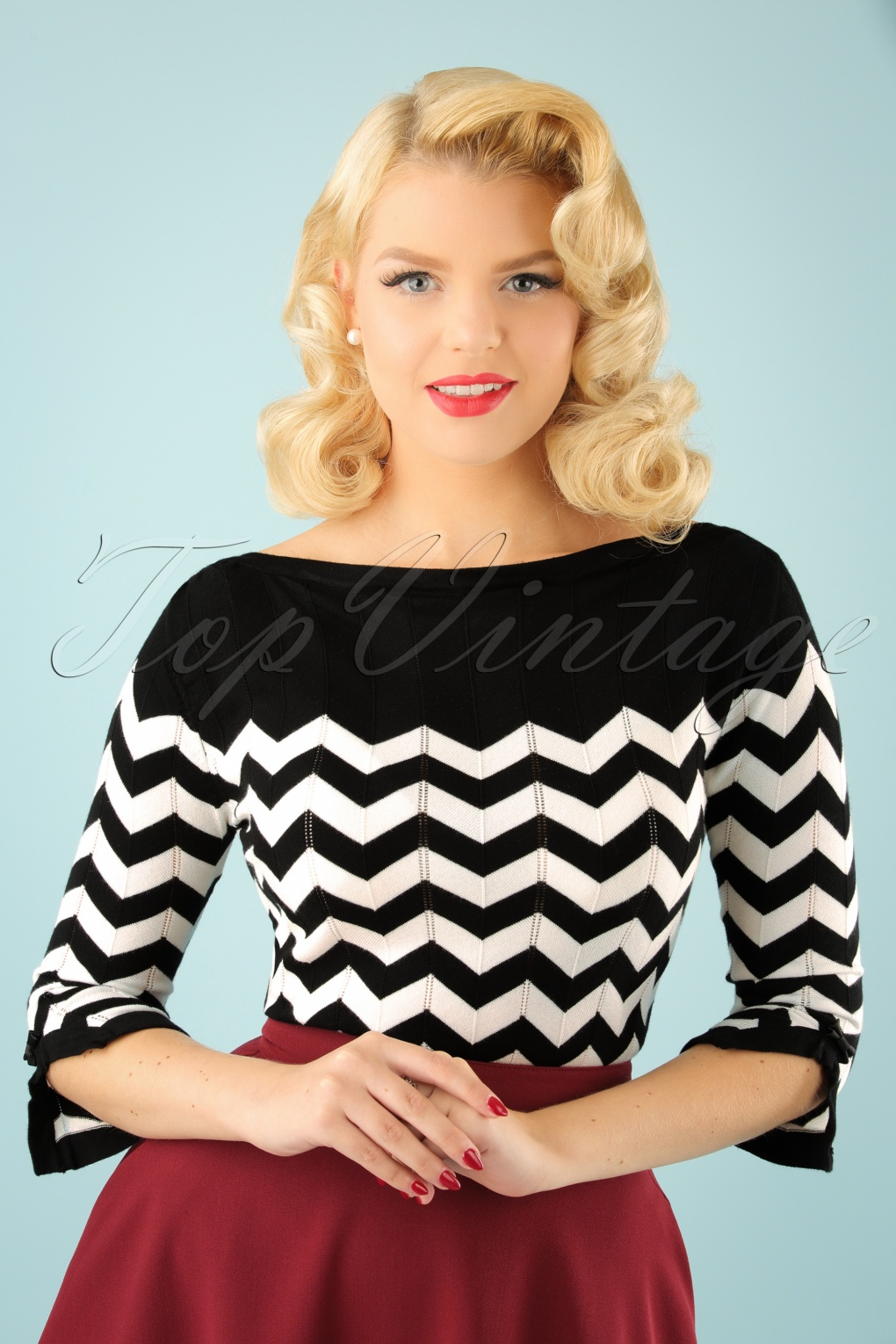 Vintage & Retro Shirts, Halter Tops, Blouses 60s Vanilla Top in Black and White £38.18 AT vintagedancer.com