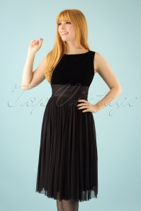 50s Retro Love Swing Dress in Black