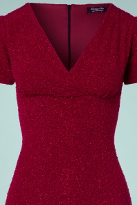 Vintage Chic Wrap Red Glitter Dress 100 20 23390 20171019 0001V