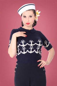 SugarShock Gina Jumper in Navy 113 39 22167 1
