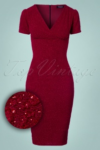 Vintage Chic Wrap Red Glitter Dress 100 20 23390 20171019 0001W1