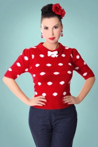 Sugar Shock Gina Polkadot Red Top 113 27 22169 2
