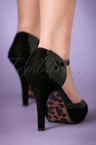 Bettie Page Shoes Lillian Black T strap Pump 401 10 21494 model 18102017 004W