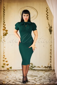 Vintage Chic 50s Bonnie Dress in Forest Green 100 20 23707 20161013 3W