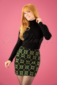 King Louie Border Skirt in Black Gold and Green 123 14 21345 20170831 0008W