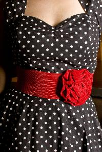 Velvet Rose Red elastic waist belt