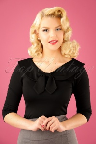 50s Betsy Tie Top in Black