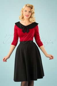 Beverly High Waist Swing Skirt Années 50 en Noir
