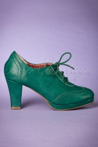 Bettie Page Shoes Green Saison Booties 430 40 21492 11102017 005W