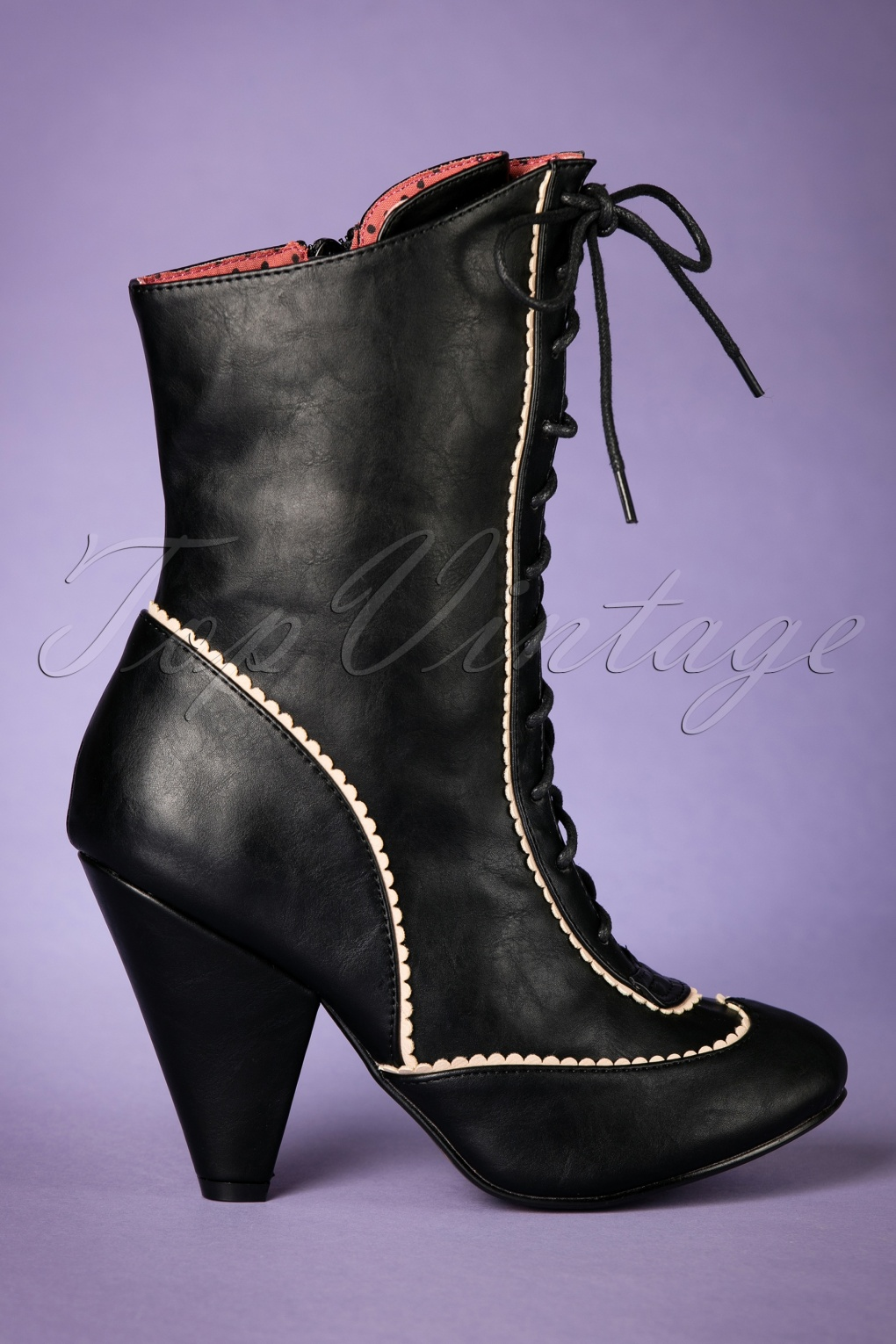 1940s Style Shoes, 40s Shoes 40s Renata Boots in Black £97.97 AT vintagedancer.com