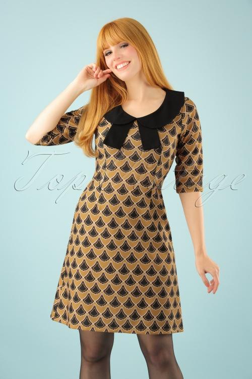 Lindy Bop Tammy Mustard Dress 106 89 22908 20170831 01W