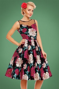 Dolly and Dotty Black Floral Swing Dress 102 14 22961 20171023 03