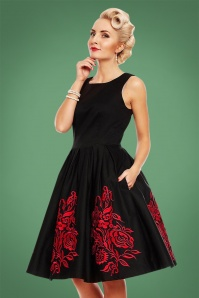 Dolly and Dotty Black Red Swing Dress 102 10 22958 20171023 3
