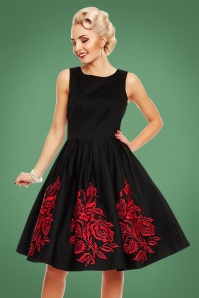 Dolly and Dotty Black Red Swing Dress 102 10 22958 20171023 2